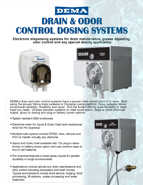 Drains and Odor Control Systems