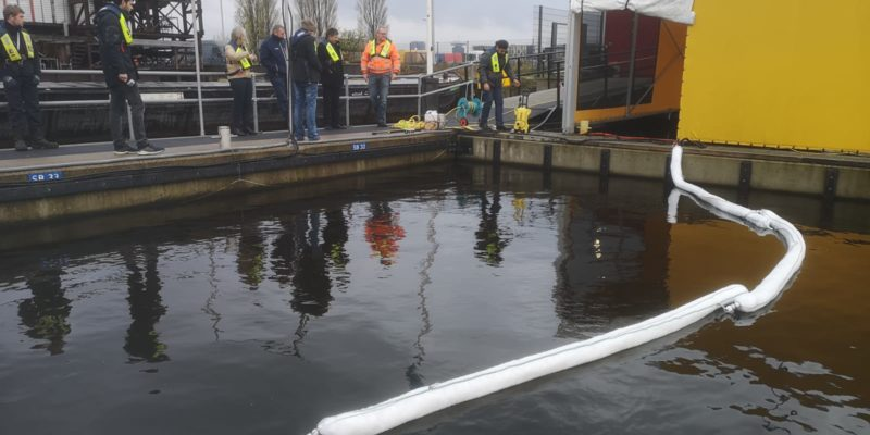 Canal Petroleum Spill Response With NONTOX